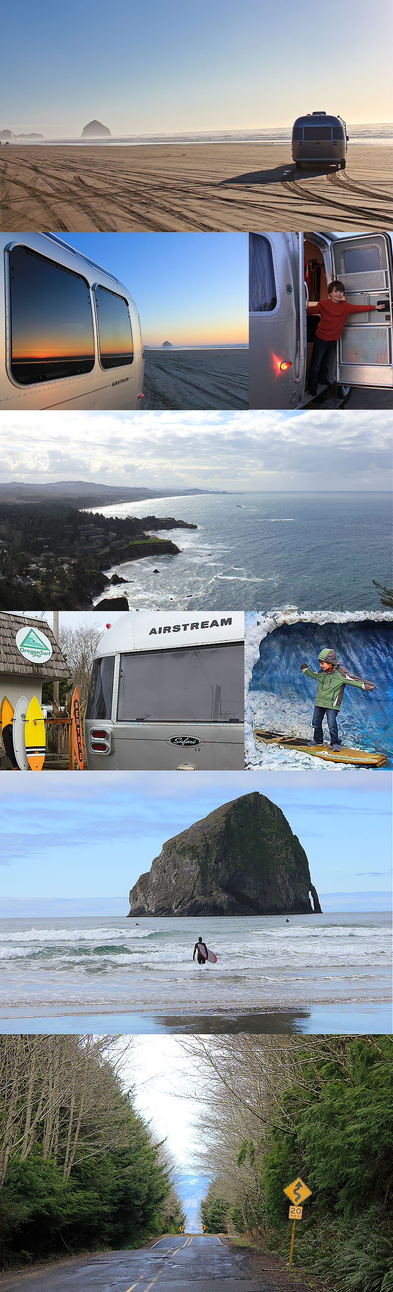 Oregon coast Airstream trip
